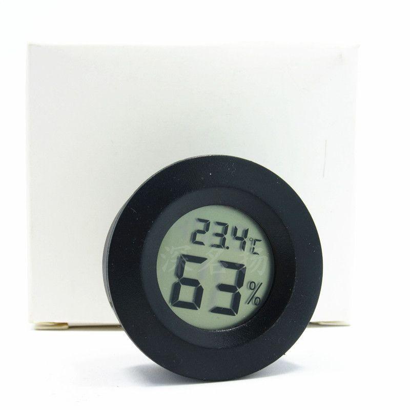 Hygromètre circulaire intégré de la température électronique, hygromètre pour animaux de compagnie, thermomètre de boîte rampante de boîte acrylique