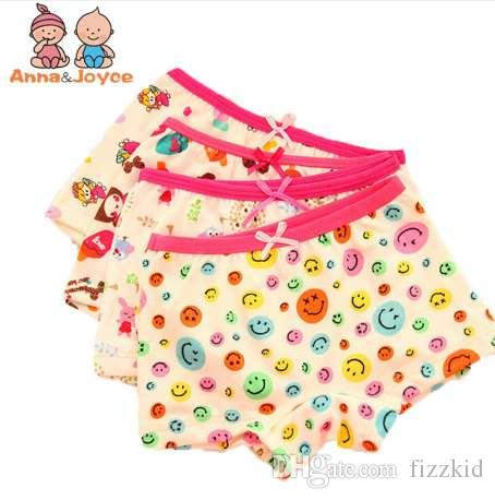 3pcs/lot Fashion New High Quality Baby Girls Underwear Cotton Panties for Girls Kids Boxer Underwear A Variety of Fancy