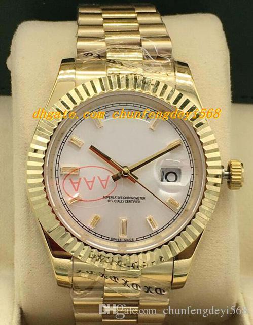 Luksusowe zegarki 8 Styl 18k Gold z diamentową Dial 41mm - Nowa automatyczna marka męska zegarek męski zegarek