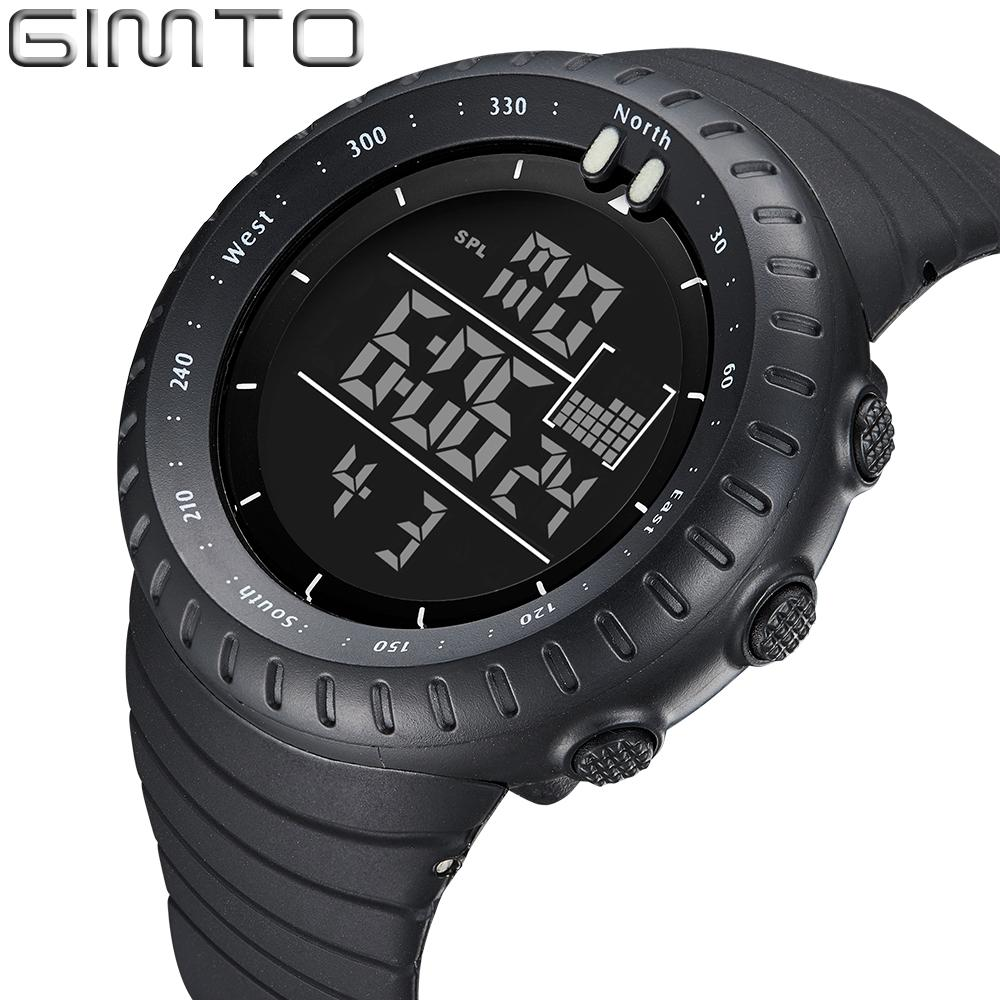 X GIMTO Brand Sport Watch Men Clock Diving Digital Shock Watch Waterpoof Silicone LED Military Boys Wrist Watches Relogio Montre