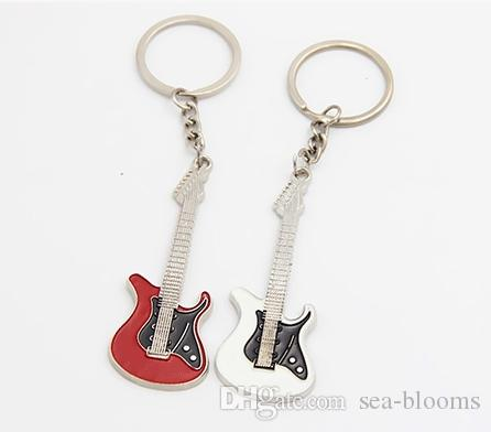 Hot Sale Creative Guitar Keychain Music Festival Musical Instrument Jewelry Pendant Keyring Gift Activity Customized Free DHL G785R A