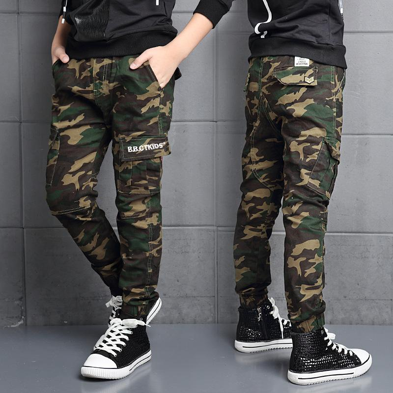 2019 professional on sale online newest style of Fashion Cotton Children Cargo Pants Baby Boys Camouflage Trousers Kids  Child Casual Pants Blue Green Army Camouflage Harem Pants Boys Casual Shoes  ...