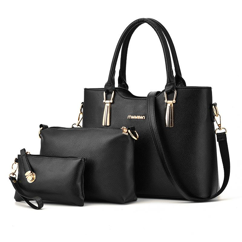 5a8bafecba79 Women Composite Bags Three Piece Sets Fashion Handbag For Female Shoulder  Crossbody Bags Lady Bags High Quality Pu Leather Tote In Wholesale,  Designer ...