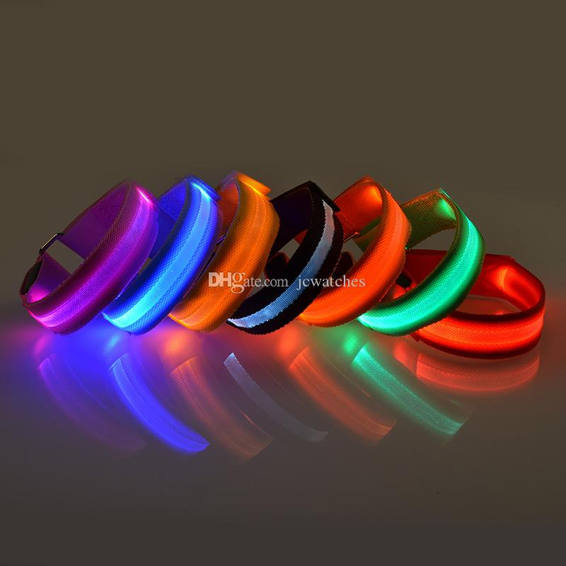 LED Leucht Arm Armband im Freienwerkzeug-Licht-Nacht Sicherheit Warnung LED-Blitzlicht-Bügel für Laufen Fahrradfest-Dekoration