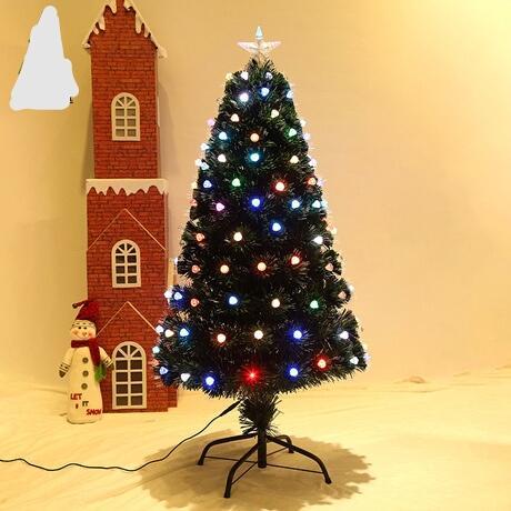 Новогодние елки праздничная вечеринка поставки Арбол де Навидад Альберо Натале kerstboom 60/90/120 см оптическое волокно свет Xmas дерево декор
