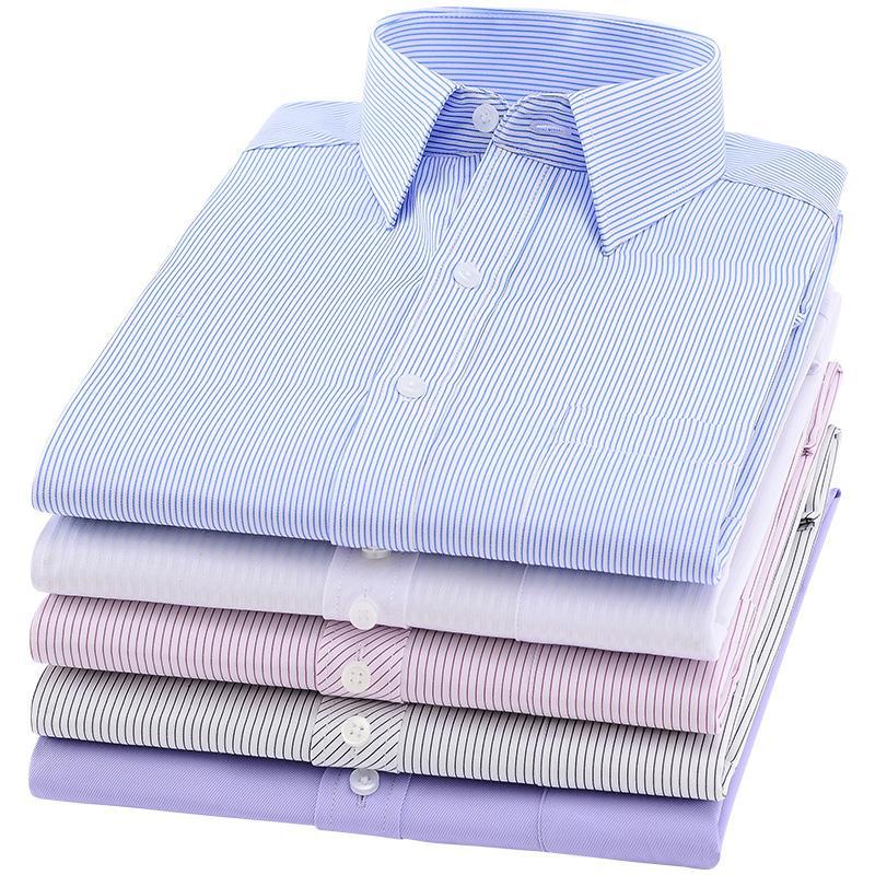 2018 nueva moda de manga larga hombres delgados camisa de vestir diseñador 4XL YN045 alta calidad sólida ropa masculina en forma de negocios camisas