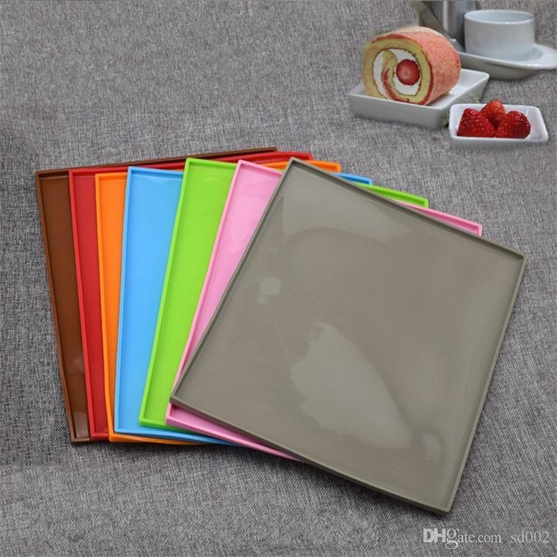 Antihaft Silikon Backmatte Multifunktions Swiss Roll Teig Pad Anti Rutsch Rechteck Küche Zubehör Gesund 5 78tl CB