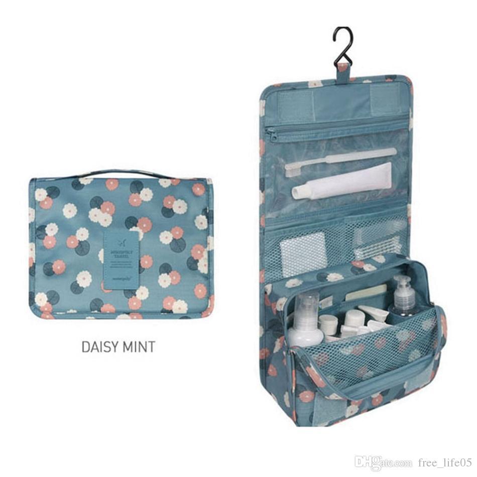 Bolsa de viaje colgante bolsa de cosméticos mujeres cremallera maquillaje bolsas de poliéster de alta capacidad bolsa de maquillaje organizador bolsa de lavado de almacenamiento