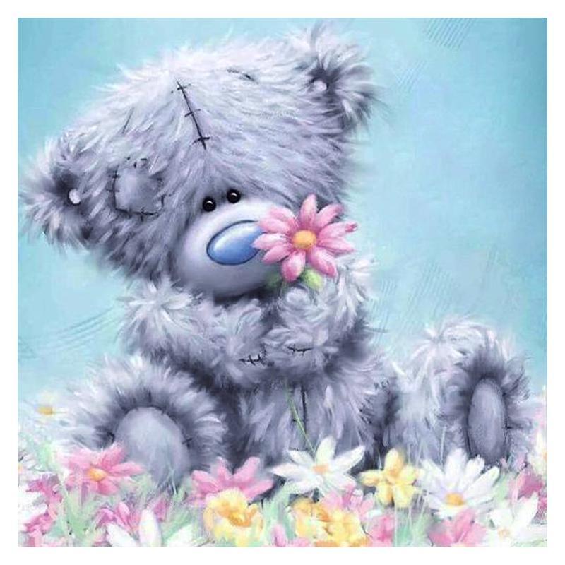 "Full Square Drill 5D DIY Diamond Painting ""cartoon Bear"" 3D Embroidery Cross Stitch Mosaic Set Home Decor Gift VIP"