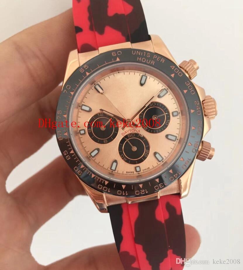 6 estilo de moda de luxo de alta qualidade assistir 40mm 116515ln 116518 116519 bandas de borracha cinta Ásia 2813 movimento automático mens watch relógios