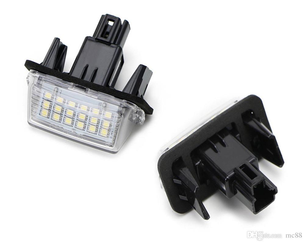 Error Free 2pcs 12V 18 LED 6000k Number Number Lights Lights Lamp for Toyota / Camry / Yaris / Ford / Hybrid