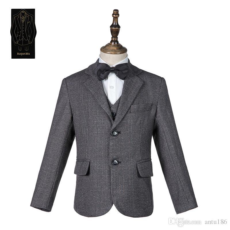 Yüksek kaliteli zarif erkek takım elbise üç parçalı takım elbise (ceket + pantolon + yelek) erkek moda yakışıklı parti elbise destek özel