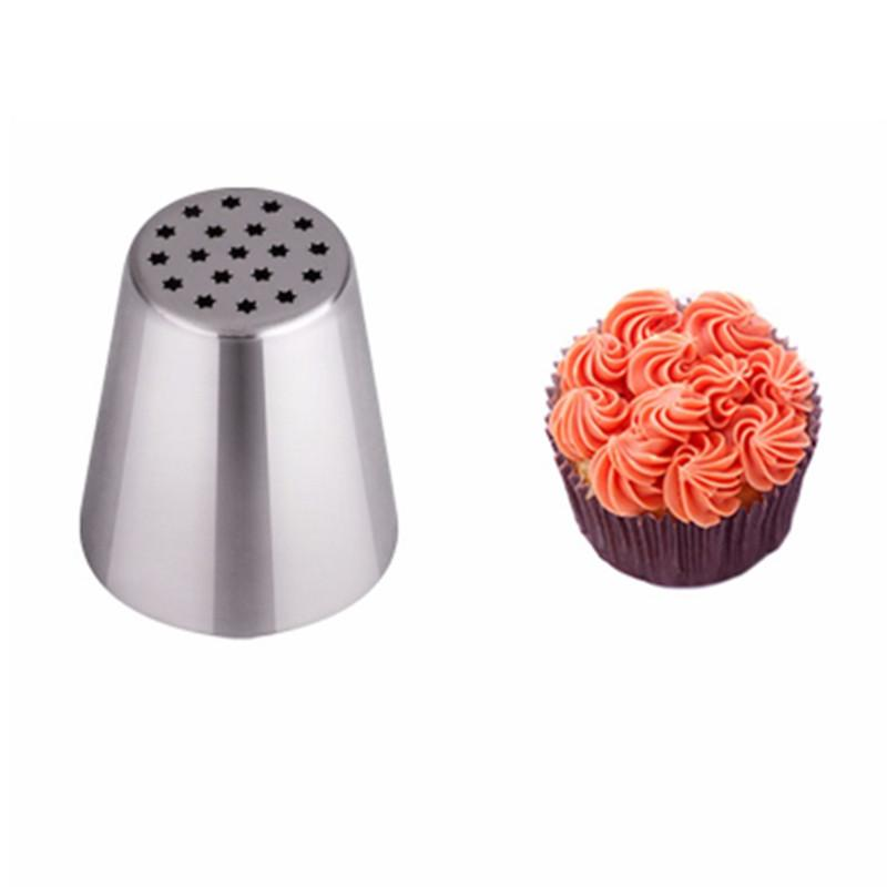 1 # Russian 노즐 튤립 장식 파이프 노즐 케이크 장식 팁 제빵 도구 DIY Sugarcraft Cupcake Dessert Decorators