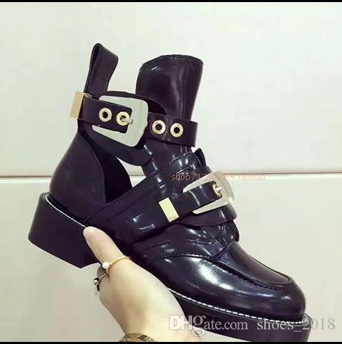 2018 Hot sales of stars fashion brand women motorcycle out of the short boots casual shoes 36-42