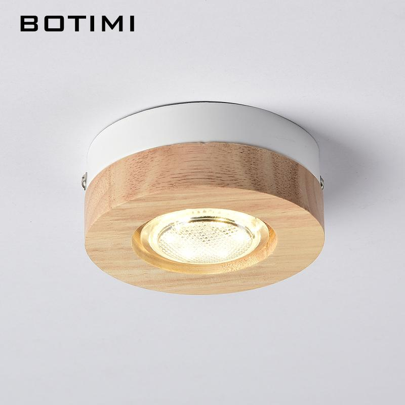 2019 BOTIMI Modern LED Ceiling Lights Wooden Ceiling Lamp For Corridor  Square Round Wood Kitchen Lights Small Surface Mounted Lamp From Grege,  $44.18 ...