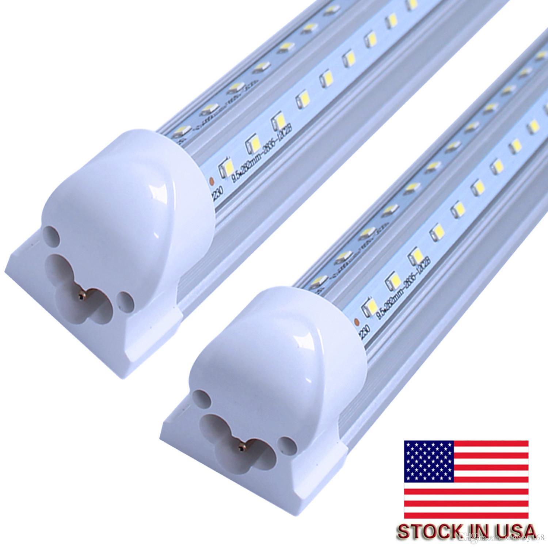 T8 8ft LED Tube rotating Integrated V Shape 4ft 5ft 6ft 8ft Cooler Door Led Tubes T8 Integrated Led Tubes Double Sides UL