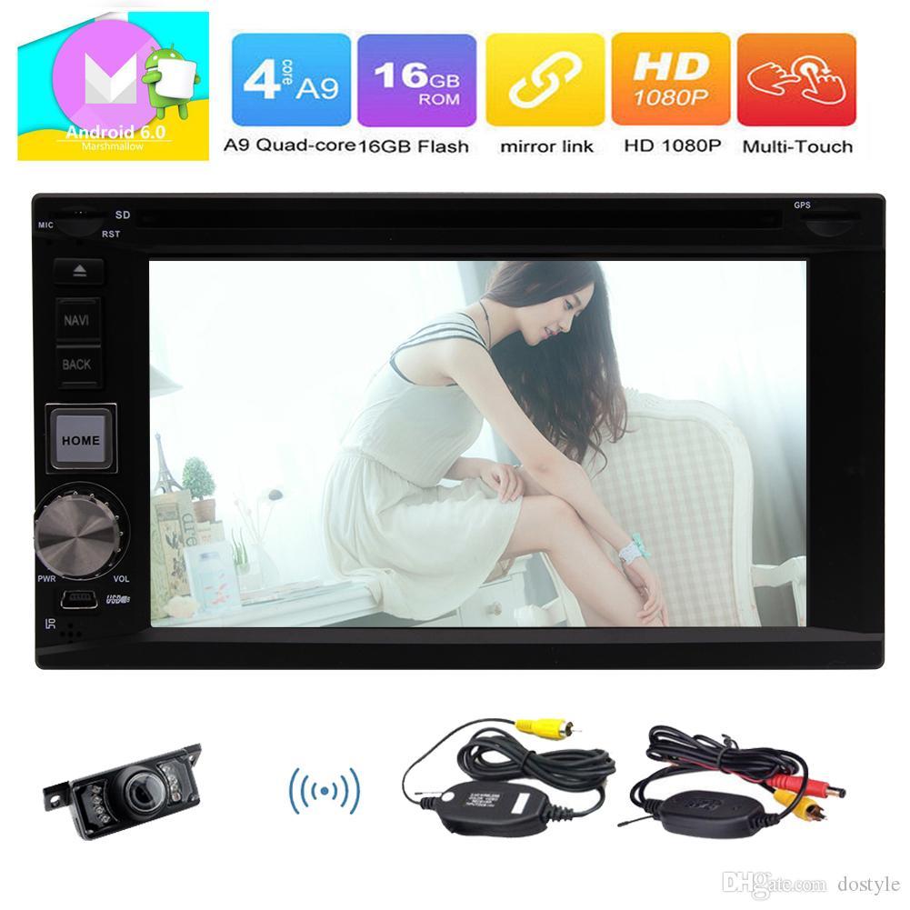 Cámara trasera Eincar Android 6.0 Marshmallow Universal 2 DIN Unidad principal En el tablero DVD del automóvil Navegación GPS WIFI FM / AM Receptor de radio