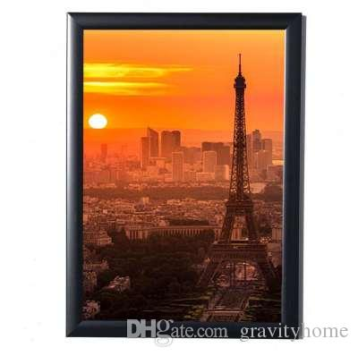 Black Simulation Wood Table Photo Frame Picture A4 Frames Complete Frame with Glass Hardboard Back