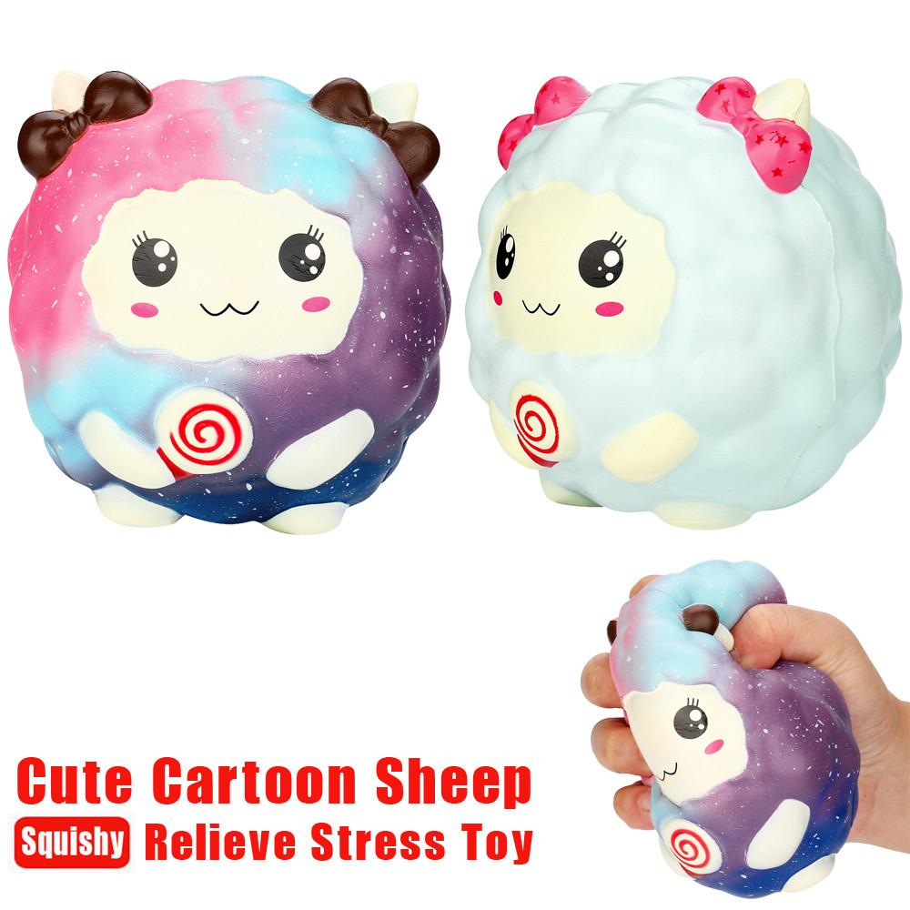 Nueva 12Cm Cartoon Kawaii Ovejas Squishy Slow Rising Squeezed Squeeze Toy Collection Cure regalo para niños adultos alivia el estrés