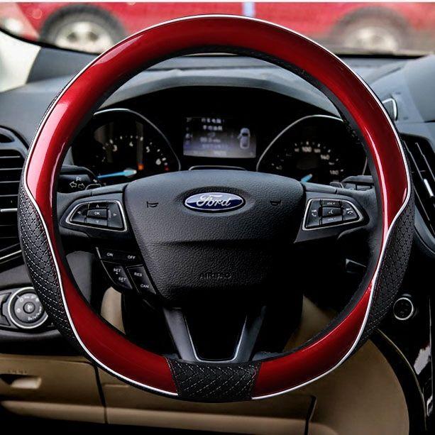 38 cm auto cobertura de volante do carro case para ford fiesta mondeo furus nissan honda volkswagen bmw gm chevrolet vermelho azul preto