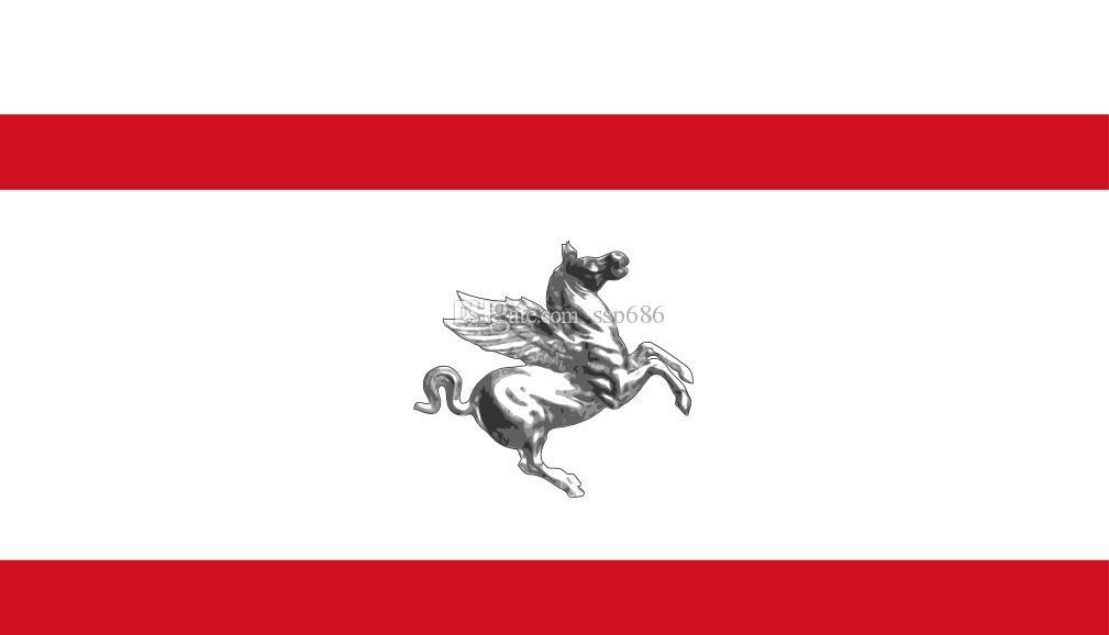 Włochy Flaga Tuscany 3FT X 5FT poliester banner latający 150 * 90 cm niestandardowa flaga na zewnątrz
