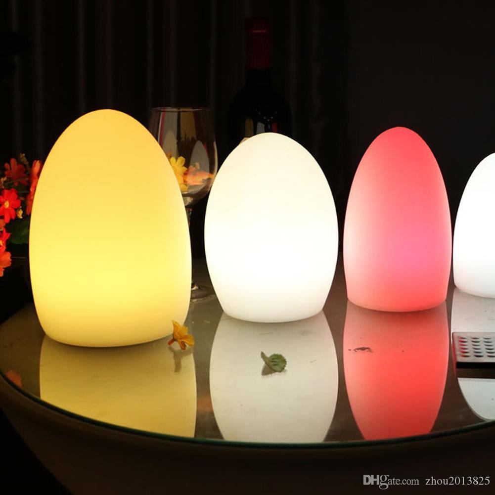 Noche de luz LED Globo de Kid ambiente cambiante del color del estado de ánimo lámpara- de control remoto inalámbrico, gradiente de 4 patrón de iluminación de carga USB - Expande