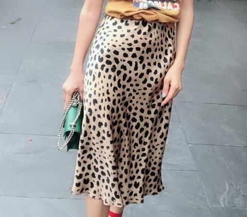 88f22b4930e5b0 2019 100% Silk Satin The Naomi Wild Things Leopard High Waist Women Wild  Side Easy 90'S Slip Skirt From Pingpo, $130.29 | DHgate.Com