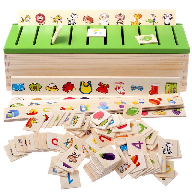 Монтессори раннего образования головоломки игрушки для детей разведки обучения головоломки деревянные существа мультфильм 3D головоломки