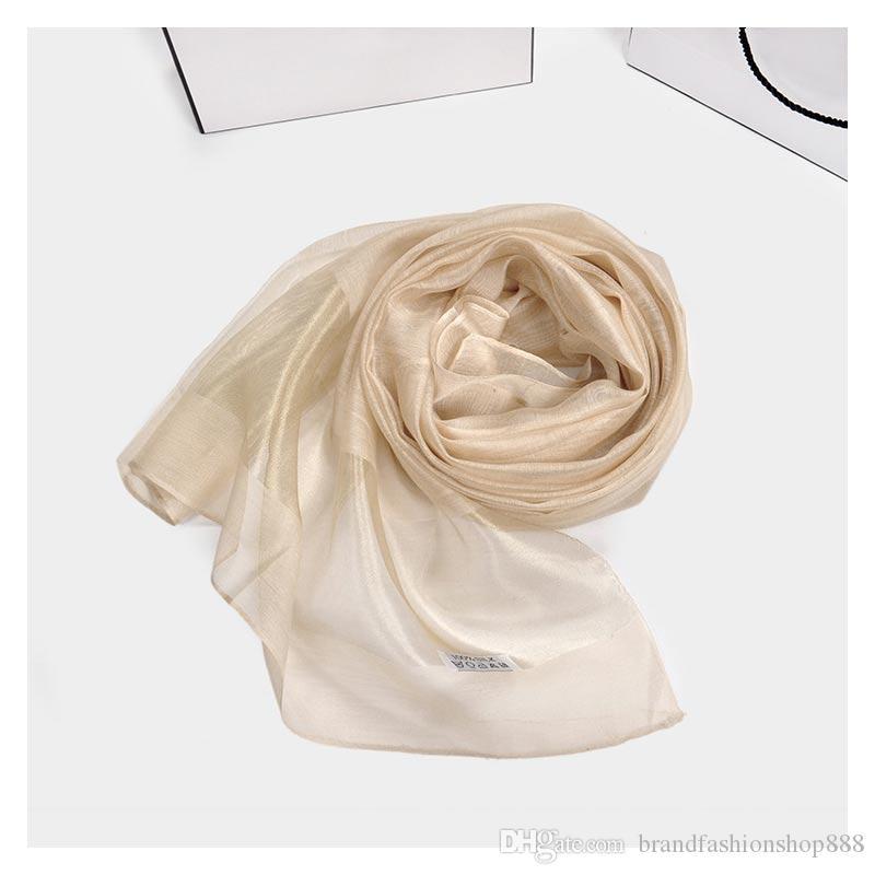 дизайнер шарф горячей продажи шелковые шарфы Японский Новый шелковый шарф защита от солнца модные шарфы несколько цветов выбрать чистый шелк 2018 .