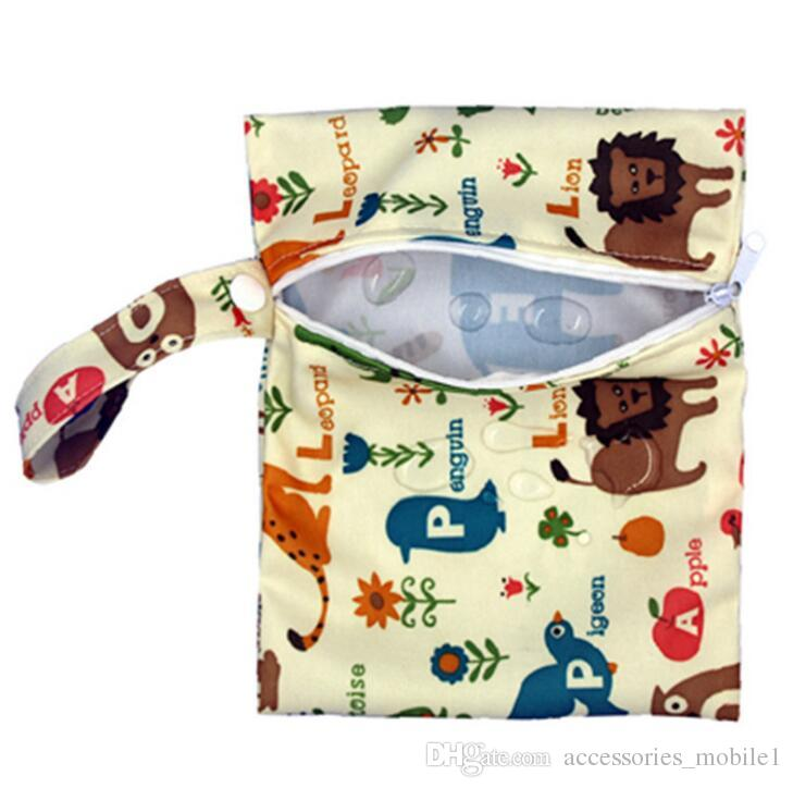 Pannolini per bambini Borse pannolino Elevatori borse impermeabili pannolino Organizer Portable Zipper infantile del passeggiatore Carrello Borse asciutto bagnato sacchetto di stoffa bagagli