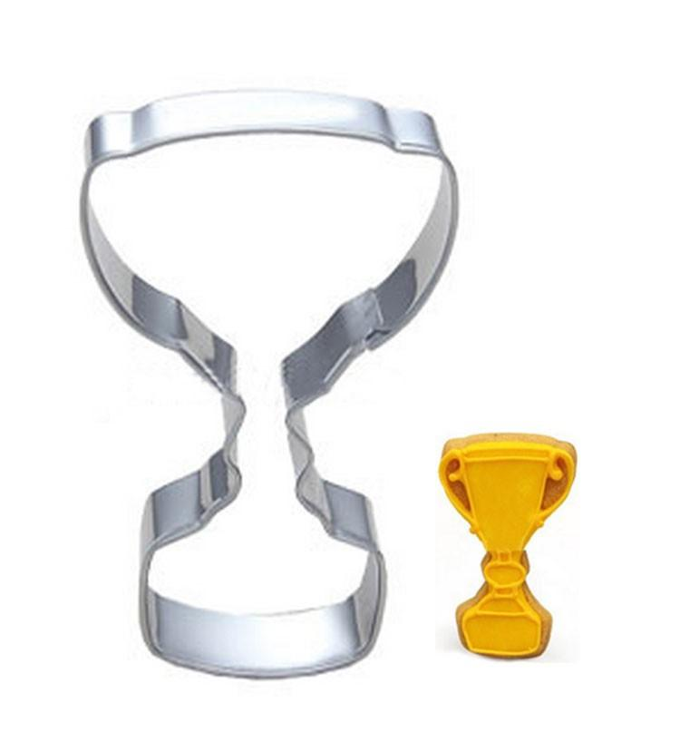 50pc Trophy Frame Mold Cake Making Cookie Cutter Egg Tool Biscuit Stamp Press Stainless Steel Dessert Cupcake Decorations