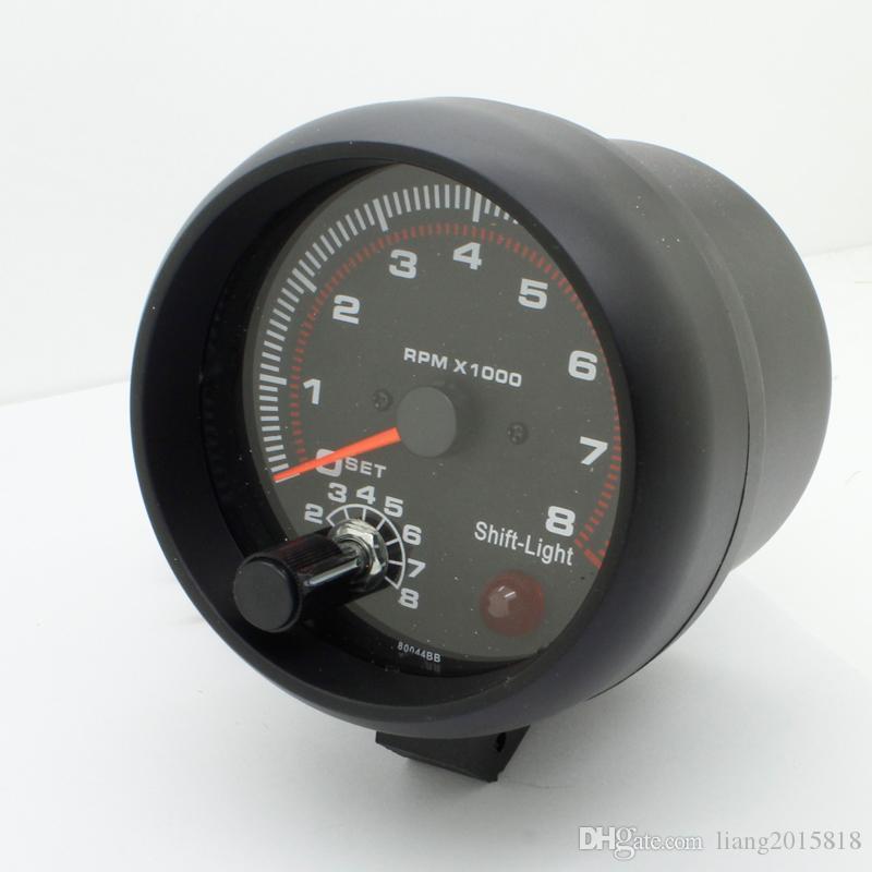 3.75 'RPM 타코미터 타코 게이지 자동 자동차 측정기 라이트 블랙 DC 12V 2017 12V 가솔린 차량용