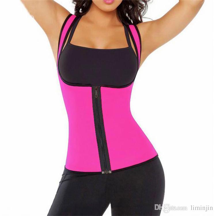 مثير إمرأة النيوبرين صائغي الجسم تجريب الخصر مدرب سترة دعم كامل رياضة gym اللياقة التخسيس الخصر التدريب مشد