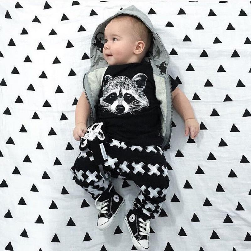 Bear Boys Ropa Sets Baby Girls Boys Fox Cotton Tops T-Shirt + Leggings Pantalones 2 PCS Ropa de ropa Traje