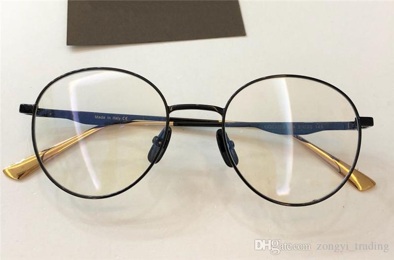 جديدة ذات جودة عالية 3370 مصمم الرجال نساء العلامة التجارية نظارات نظارات نظارات جولة الرجعية الإطار البصري مع الاطار الأصلي نظارة دي سولي