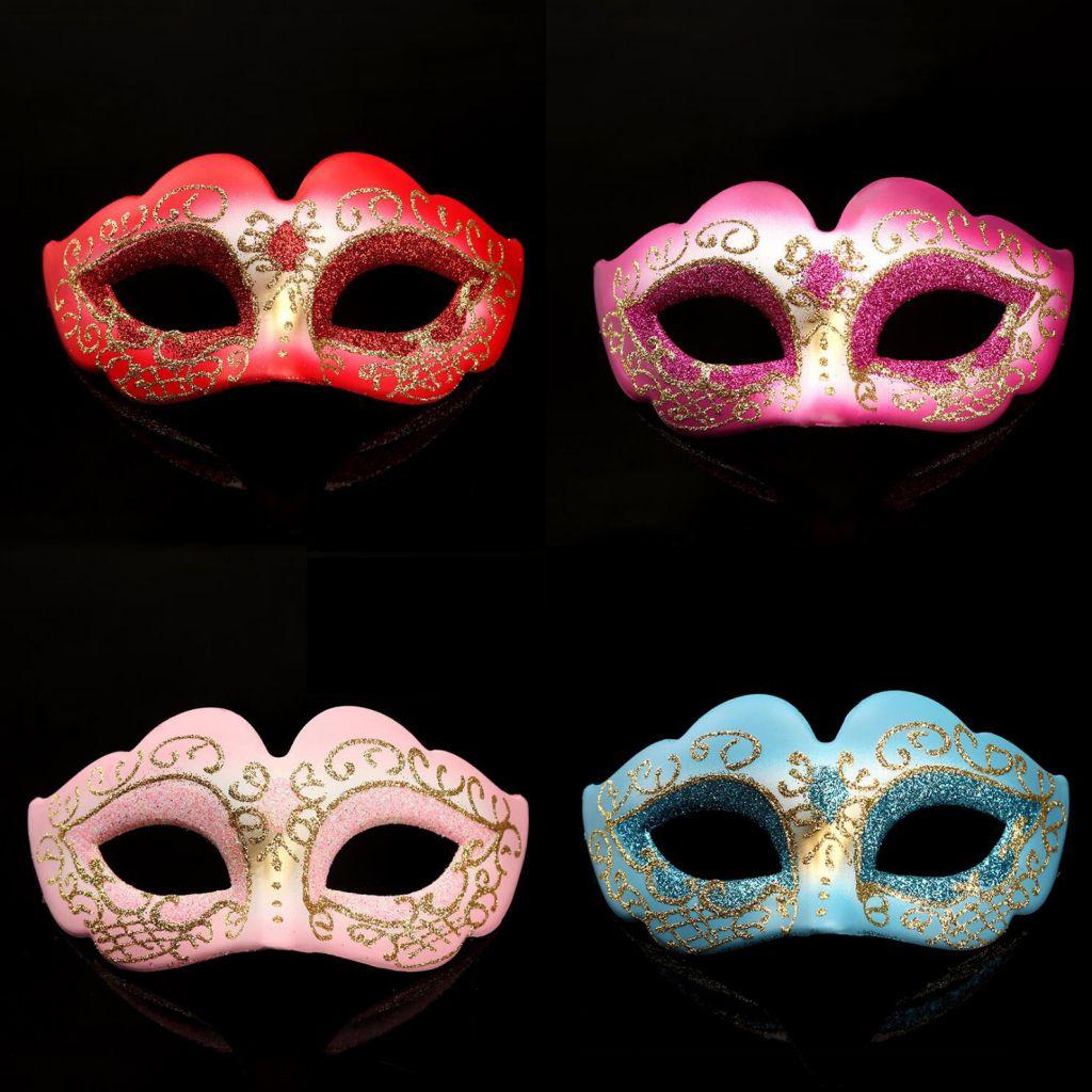 할로윈 의상 파티 PVC 마스크 여성 패션 페인 티드 파티 카니발 얼굴 마스크 생일 졸업 장식 마스크