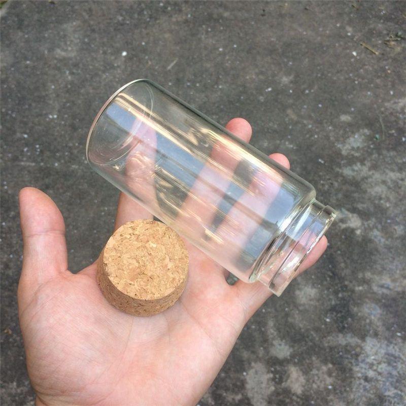 230ml Big Glass Saffron Storage Bottles Corks Food Grade Jars For Saffron Transparent Eco-Friendly Bottles7