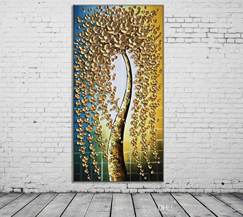 ZYXIAO 포스터 및 인쇄 꽃 난초를 수행 현대 유화 캔버스 프레임 벽 장식 거실 인테리어 홈 장식 ys0090
