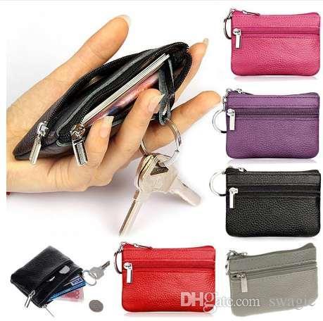 Portamonete in pelle PU Portamonete donna a cambio piccolo portafogli Portafogli portachiavi Mini tasca con cerniera Carteira Feminina