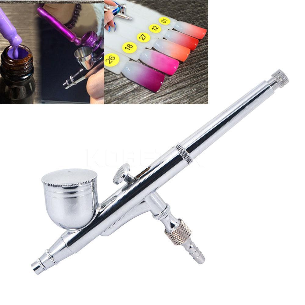 Оптово-Dual-Action Aerografo 0.2мм пистолет-распылитель для Nail Art / тело татуировки Spray / Cake / Игрушка Модели Аэрограф Kit для Art Craft Brush Gift