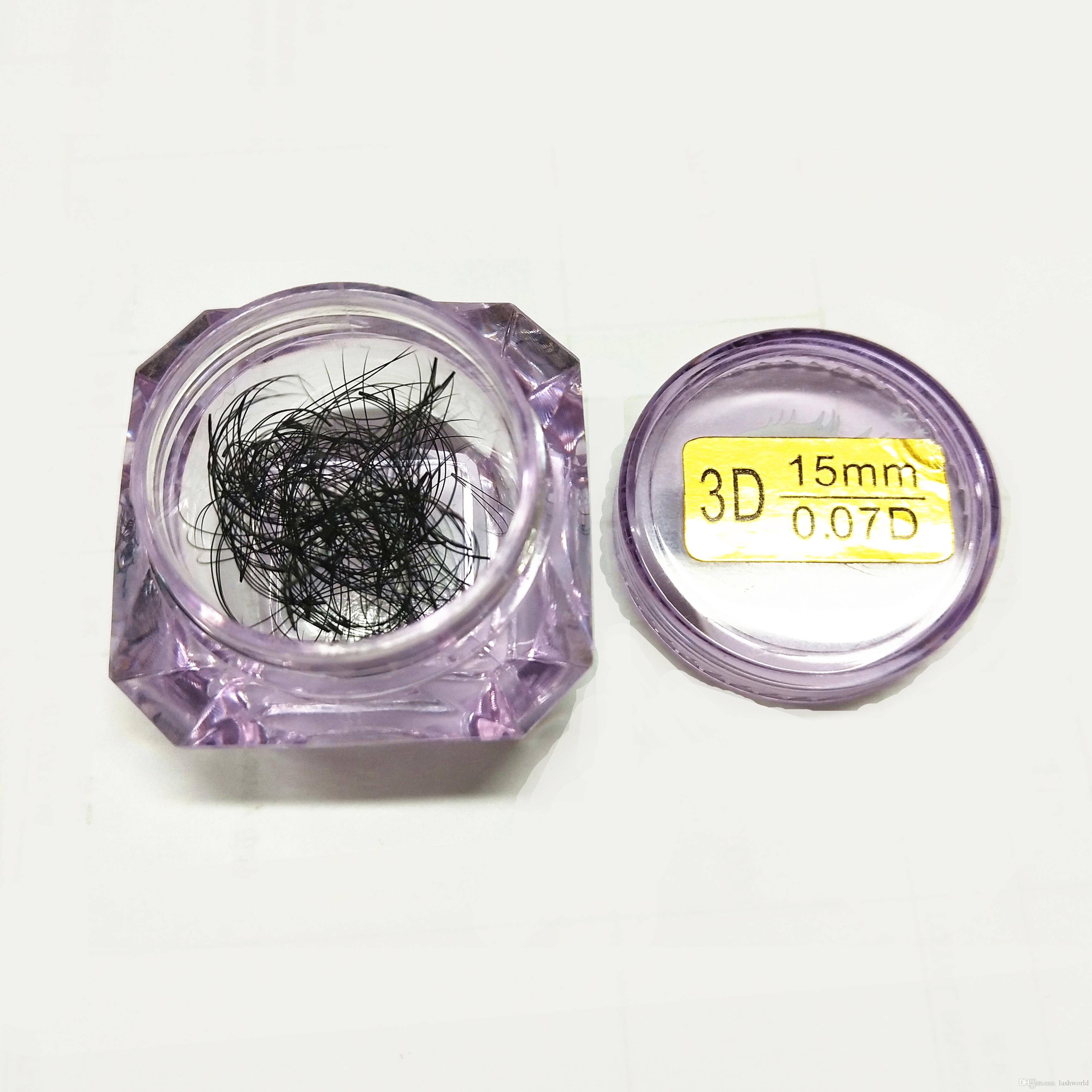 Seashine 3D premade volume fand 8-15mm 0.07 spessore C D curl alta qualità materiale coreano PBT ciglia