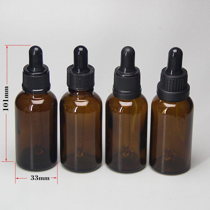 Lot de 12 flacons vides rechargeables 5 ml//10 ml en verre ambr/é avec compte-gouttes et capuchons noirs