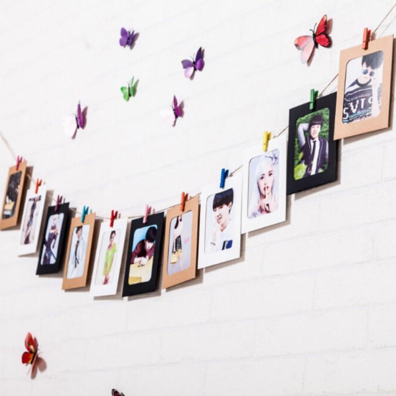 مختلط لون الإطار البقر المعلقة ورقة إطار الصورة صيد صافي صور جدار منزل شنقا العرض ديكور حفل زفاف ديكور