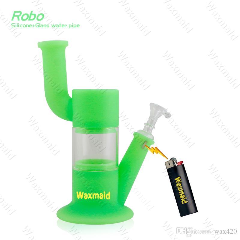 Tubería de agua de silicona de Waxmaid Robo de la plataforma petrolera que fuma Dong Rig colorido del agua de la plataforma para fumar Chica en venta