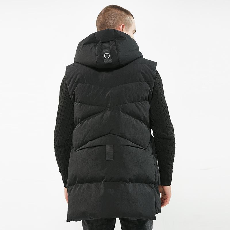 Beautiful Man Hat Fashion Keep Warm Long Fund Loose Male Autumn Jacket Winter Coat Men