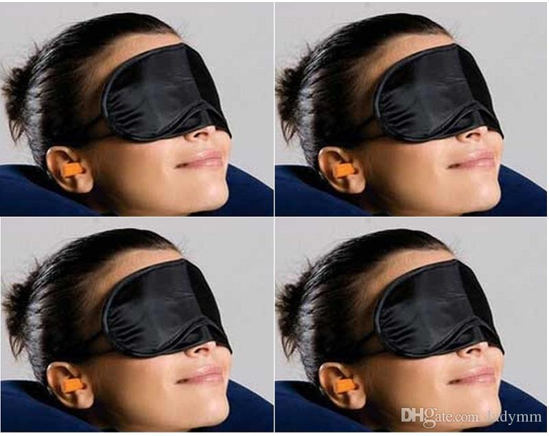 100pcs Sleep Mask Eye Mask Shade Nap Cover Blindfold Sleeping Sleep Travel Rest Fashion Free Shipping Wholesale Black Colors