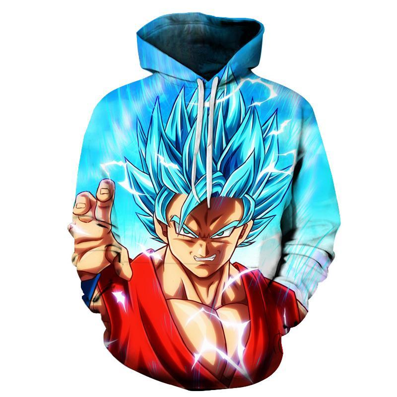 Nouvelle mode Dragon Ball Z 3d Imprimer Hoodies Vêtements de mode Femmes / Hommes Sweat Casual Pullovers K278