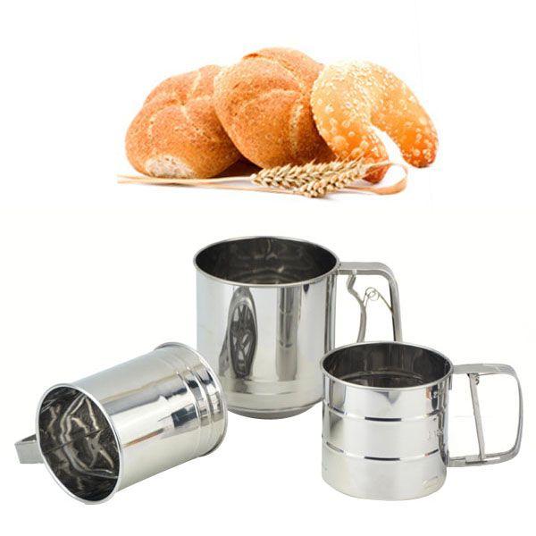 1Pc Flour Sifter Sieve Stainless Steel Filter Baking Lcing Sugar Powder Strainer Baking Tools VBG64 P15 10