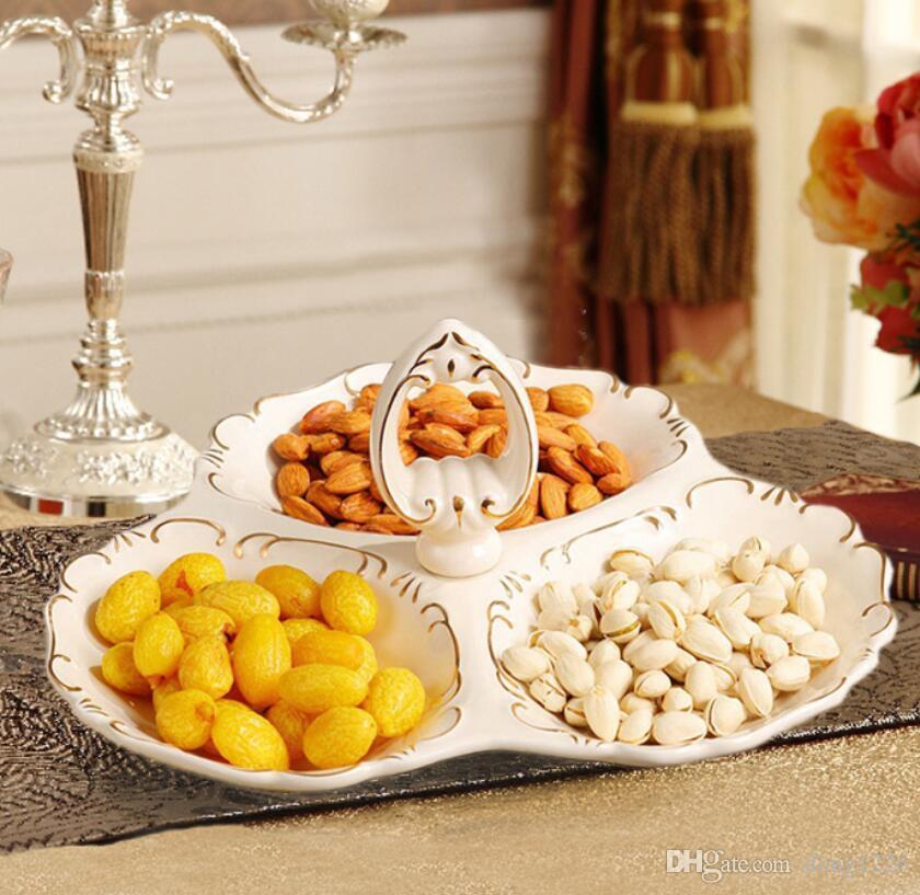 Europe creative ceramic dried fruit Candy Storage dish Dessert Snack Salad plate home tea table decor wedding decoration statue