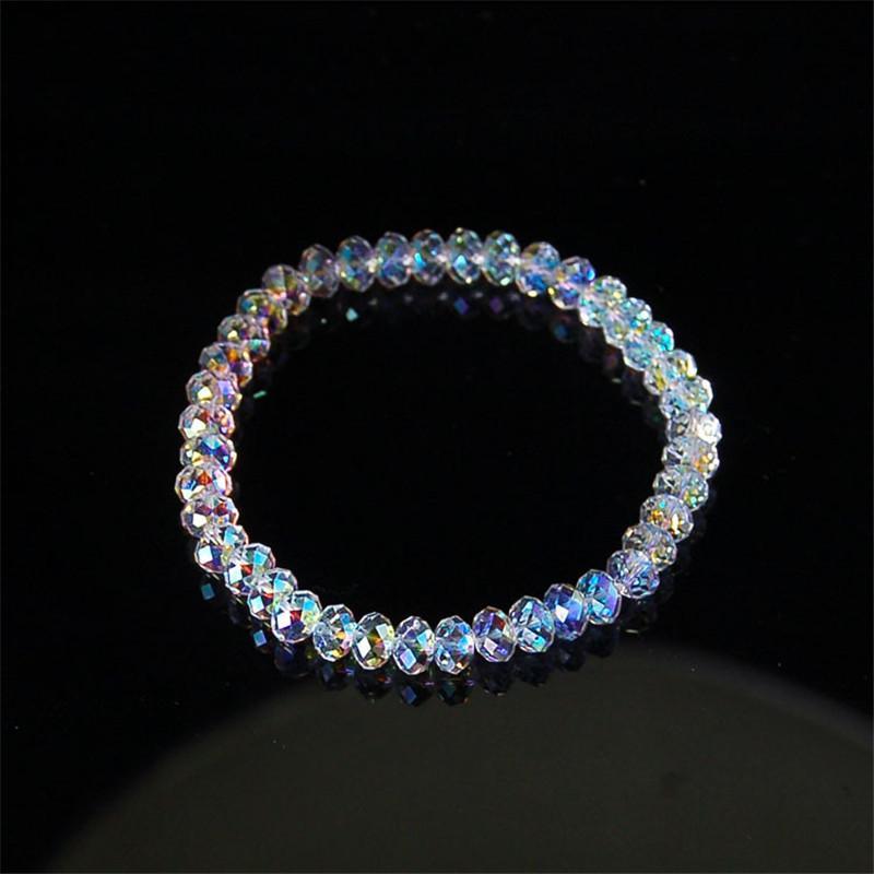 Bracciali fune Nuovo artificiale cristallo braccialetto uomini lucido pietra Perline elasticità per le donne Gioielli uomo